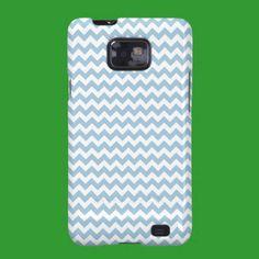 Samsung Galaxy S2 Case-Mate, Blue, White Chevrons