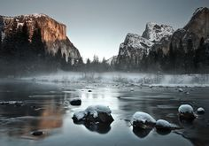 Misty Merced River by Joseph Fronteras, via 500px