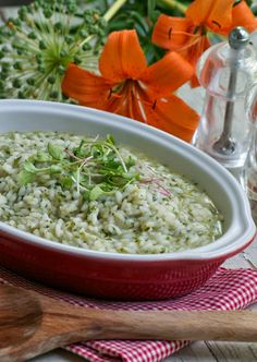 more than burnt toast: Celebrating Summer with a Peppery Arugula Risotto and an Encore of Risotto Cakes