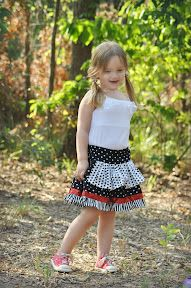 Sewing Patterns for Girls Dresses and Skirts: Ruffled Apron for Girls (Free Sewing Pattern)
