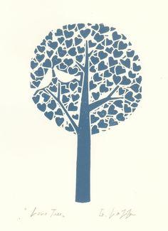 Tree Lino Print £18.00