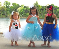 Do you want to build a snowman!? These Frozen Inspired tutu dresses are sure to bring a big smile and a lot of fun and wonder to your little girl! Whether your little girl loves Anna, Elsa, or Olaf -
