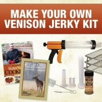 Jerky Kit: Venison Jerky & Sausage Recipes + Weston Jerky Gun Jr. | ShopDeerHunting $64.99