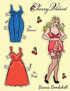 Pin-Up Paper Dolls! #biancabombshell #plus #plussizefashion #plussizedresses # pinup #cherryvelvet