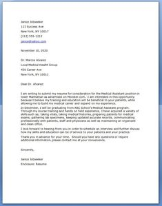cover letter for medical assistant cover letter examplea - How To Write A Cover Letter For Medical Assistant