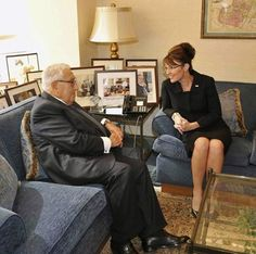❥ Sarah Palin - Is Tea Party Mascot New World Orderly? MK Ultra mind control puppet, handler is Henry Kissinger. They own them all. Every single one of them.