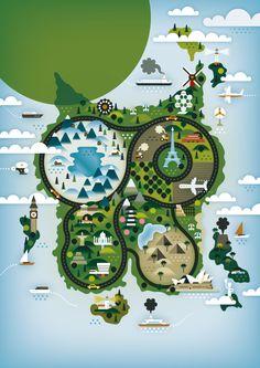 De Standaard Boekhandel KHUAN+KTRON in Illustration  | illustration inspiration | digital media arts college | www.dmac.edu | 561.391.1148