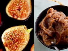 Fig Sorbet // I love fig ice cream, so I decided to try sorbet, and although I wasn't crazy about the color, I couldn't resist the flavor Make sure to use fully ripe, sweet figs for this My favorite way to make this is with red wine.