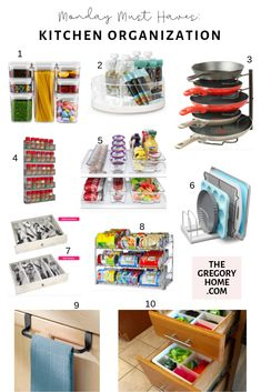 If you feel like you're constantly rummaging through overstuffed drawers searching for a spatula, then check out these kitchen organization items! Pot Lid Organization, Kitchen Organization, Organizing, Kitchen Drawer Dividers, Kitchen Drawers, Home Gadgets, Kitchen Gadgets, Kitchen Utensils, Kitchen Tools