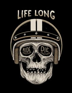 Ride together... die together... hopefully not all at the same time, but I fully get it. Really dig the whole artwork especially the 'quote' slapped in the skulls dead eyes. worthy of being on any many boards SkullyBloodrider. Found via - Behance.