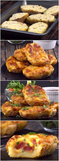 Minha receita de batata FAVORITA! Assada, recheada e com muuuuito queijo! EU AMOOOO! (veja passo a passo como fazer) #batata #batataasssada #batatarecheada