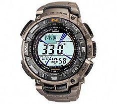 f9990fc5676c Casio Pathfinder Triple Sensor Watch w  Titaniu m Band