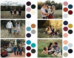 What to wear for family photos: color choices.  By Winnie Bruce Photography  www.winniebrucephotography.com