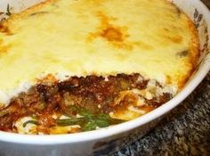 Traditional Greek moussaka recipe is like lasagna made with eggplant or zucchini