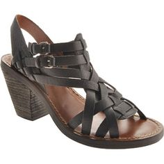 SALE - Lucky Brand Kisa Stacked Heels Womens Black - Was $99.00 - SAVE $44.00. BUY Now - ONLY $54.95.