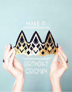DIY: paper birthday crown