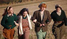 fashion, style, vintage, 1940s, war, land girls, country, english, tweed, autumn, winter