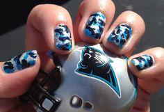My Carolina Panther Cam-o nails! Ha!