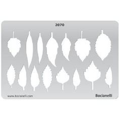 Metal Clay Jewellery Jewelry Making Design Template Drawing Drafting Stencil - Leaf Leaves: Amazon.co.uk: Kitchen & Home
