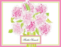 Pretty Peonies Foldover Note Cards