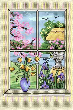 Maria Diaz Designs: SPRING WINDOW (Cross-stitch chart)