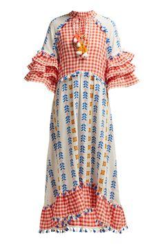 New Dodo Bar Or Lola ruffled cotton maxi dress. Womens Dresses from top store Beach Wear Dresses, Summer Dresses, Mode Hijab, Mode Inspiration, Fashion Editor, Cotton Dresses, Printed Cotton, Women Wear, Short Sleeve Dresses