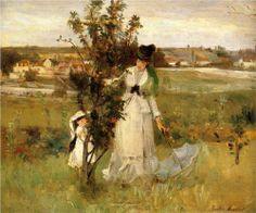 Hide and Seek. Berthe Morisot was a French painter, member of the Impressionism movement. She married Eugène Manet, who was a brother of Édouard Manet. Pierre Auguste Renoir, Edouard Manet, Camille Pissarro, French Impressionist Painters, Impressionist Paintings, Mary Cassatt, Paul Cezanne, Claude Monet, Berthe Morisot