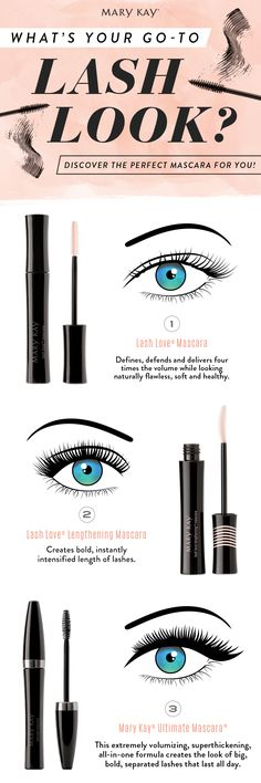 Lash Love® Mascara, Lash Love Lengthening® Mascara or Mary Kay® Ultimate Mascara™: Which mascara catches your eye? You know you'll want them all.