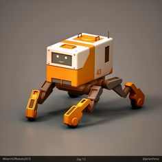 """Day 13 of Another blocky type bot, this one has wheels. 3d Character, Character Concept, Character Design, I Robot, Robot Art, Arte Peculiar, Robots Characters, Video Game Development, Robot Concept Art"