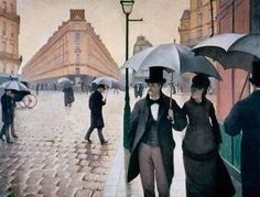 Paris Street; Rainy Day by Gustave Caillebotte. the road is my favorite part of this painting.