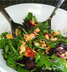Thai Salmon Salad - The Weary Chef