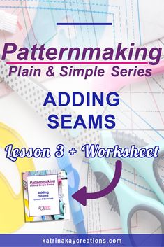 In Lesson 3, the final lesson in the Patternmaking Plain & Simple Series, I show you how to use darts to add seams to your sewing pattern. Practice this patternmaking method by downloading the worksheet and extra video tutorials. Read the blog post and watch the video tutorial on adding seams in patternmaking or pin to view later.