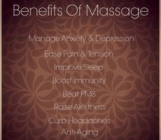 Don't deny yourself of these incredible massage benefits!