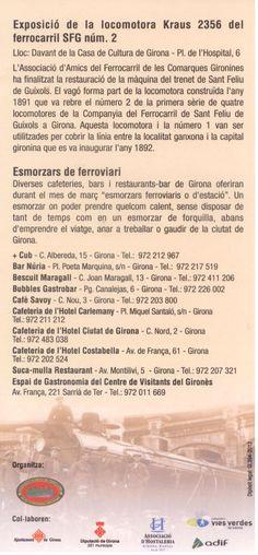 """Con motivo de la celebración de los 150 años de la llegada del ferrocarril a Girona, diversos restaurantes y cafeterias de la ciudad ofrecen durante el mes de marxo """"Esmorzars Ferroviaris"""", desayunos calientes para coger fuerzas antes de disfrutar de los encantos de la ciudad de Girona."""
