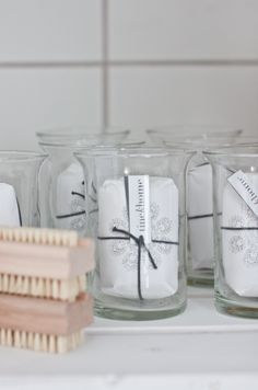 Soap from Tine K home i small vases, from Hviit. Small Vases, Soaps, Glass Of Milk, My House, Tin, Bubbles, Bathroom, Decor, Hand Soaps
