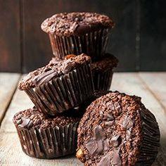 Muffiny czekoladowe bezglutenowe I Gluten free chocolate muffins Gluten Free Cookies, Gluten Free Baking, Gluten Free Recipes, Chocolate Muffins, Gluten Free Chocolate, Raw Food Recipes, Sweet Recipes, Healthy Recipes, Polish Desserts