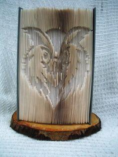 Owl Art - Folded Book - Birthday Gift Owl - Owl Ornament - Bookfolding Owl by CreationsByMEx on Etsy