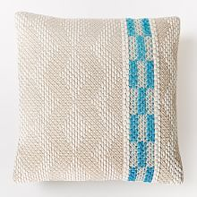 Home Accessories and Pillows on Sale   west elm   Diamond color stripe pillow cover - bright turquoise  $59  now $29