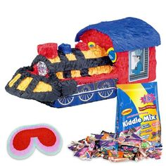 Check out Train Pinata Kit - Cheap Party Accessories and Decorations from…