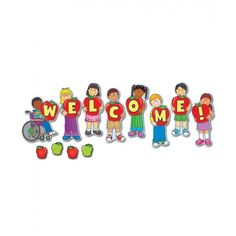 Welcome bulletind board set