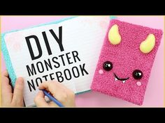 DIY Back to School Monster Notebook! - YouTube