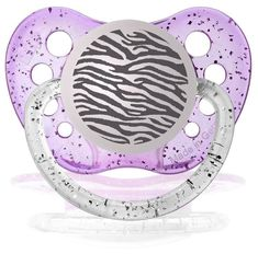 Personalized Pacifiers Zebra Pacifier Glitter Purple ** Check this awesome product by going to the link at the image. (This is an affiliate link)