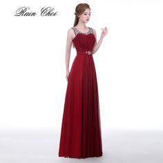 100% Real Photo Latest Designs Prom Dresses Long Chiffon Cheap Evening Dress 2017 Zipper Back Evening Gown #Affiliate