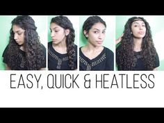 4 Easy Hairstyles (Curly Penny) - YouTube; love how these are all every-occasion appropriate!