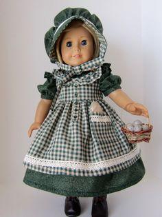 American Girl Doll: Green Prairie Girl by SewSpecialByBarb on Etsy