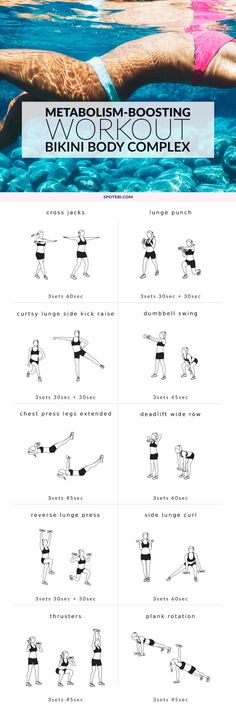 Speed up your metabolism boosting system by this workout bikiny body complex   Discover how to melt 20lbs of your body fat in less than a month #exercise #weight #fat #loss