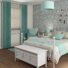 Blue Thermal Window Curtain With White Blinds In Contemporary Bedroom As Well As Curtains Vertical Blinds And Vertical Blinds And Curtains Curtains Over Blinds, Blinds For Windows, Window Blinds, Bedroom Decor, Teen Bedroom, Bedroom Ideas, Master Bedroom, Bedrooms, White Blinds