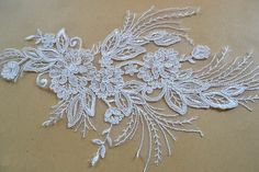 Lace AppliqueTrim Wedding Lace Applique Bridal lace by LaceNTrim