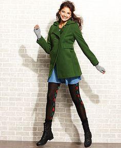 Tommy Girl Coat, Hooded Swing Double-Breasted - Coats - Women - Macy's