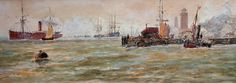 Buy Thomas Bush Hardy North Shields Shipping and other Victorian paintings and watercolours at James Alder Fine Art North Shields, Victorian Paintings, North East England, My Heritage, Historical Pictures, Newcastle, East Coast, Sailing Ships, Fine Art